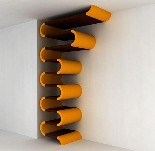 El sistema modular de estanterías, desde la que se puede poner prácticamente cualquier forma de Maria Yasko
