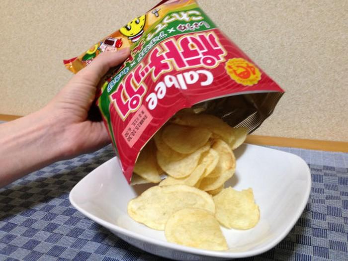 Чипсы с самыми невообразимыми вкусами:  хорошо идут в сочетании с чипсами «васаби и имбирь»