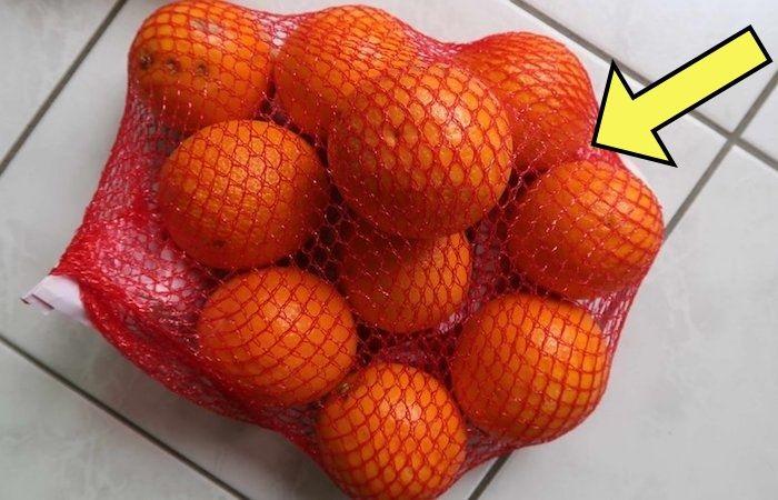 Секрет красной «авоськи» для апельсинов.