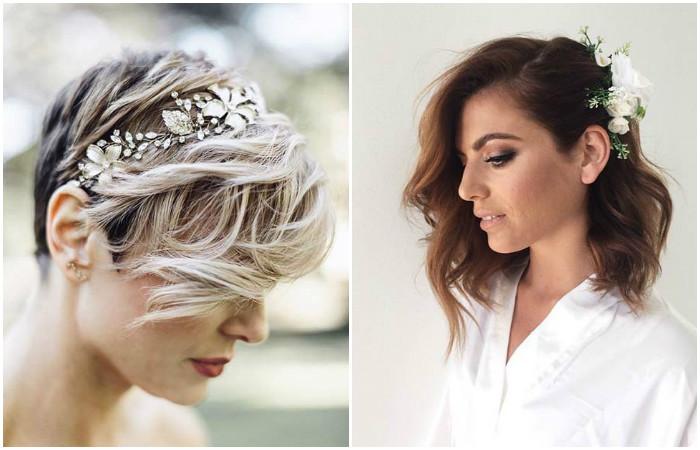13 самых актуальных свадебных и выпускных причёсок для коротких и средних волос