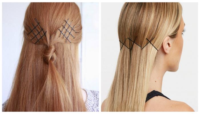 11 оригинальных причёсок с заколками-невидимками
