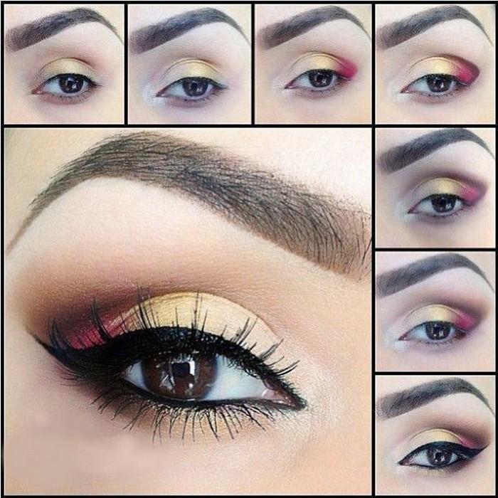 Пошаговые идеи макияжа для карих глаз