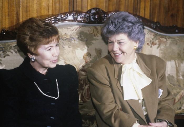 Энне Бурда и Раиса Горбчёва.