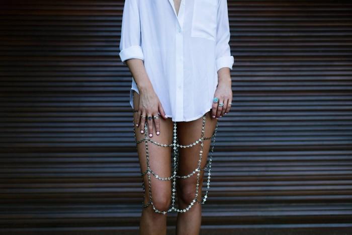 Юбка из металлических цепей Christie Nicole