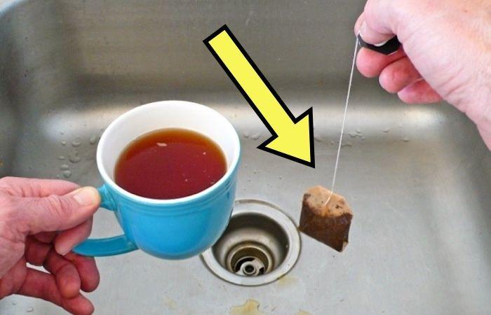 Зачем оставлять использованный чайный пакетик в раковине, и Как это решит одну пренеприятную проблему
