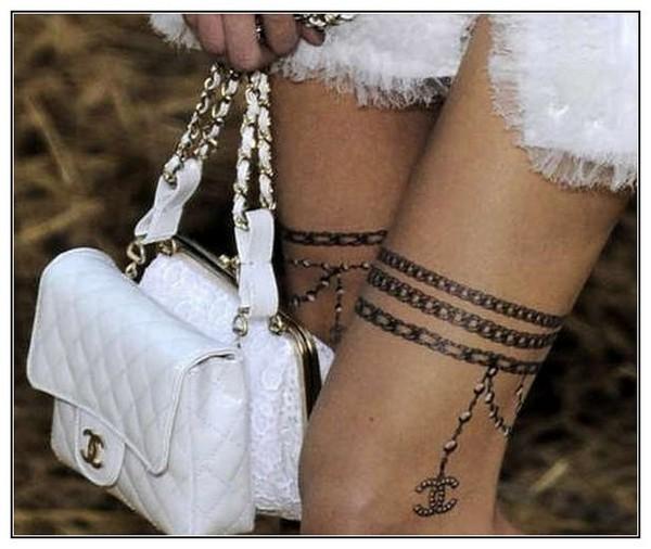 Необычные татуировки от Chanel
