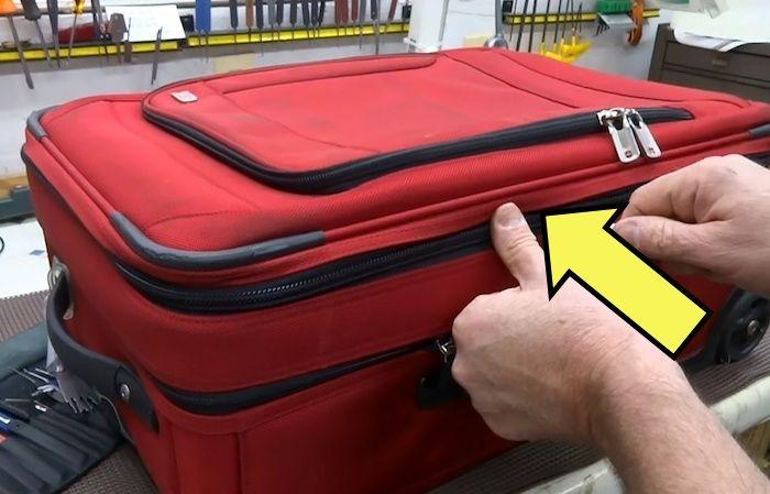 Как можно легко вскрыть чемодан даже с «очень надёжным» замком.