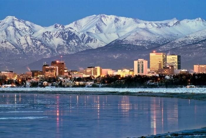 Суровая, но такая красивая Аляска.