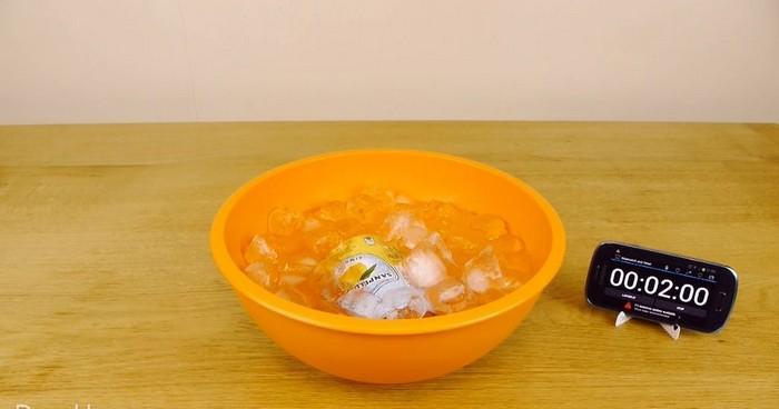 Как охладить любой тёплый напиток за 2 минуты