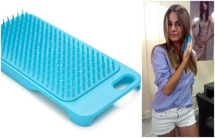 Кейс для iPhone и щётка для волос по совместительству