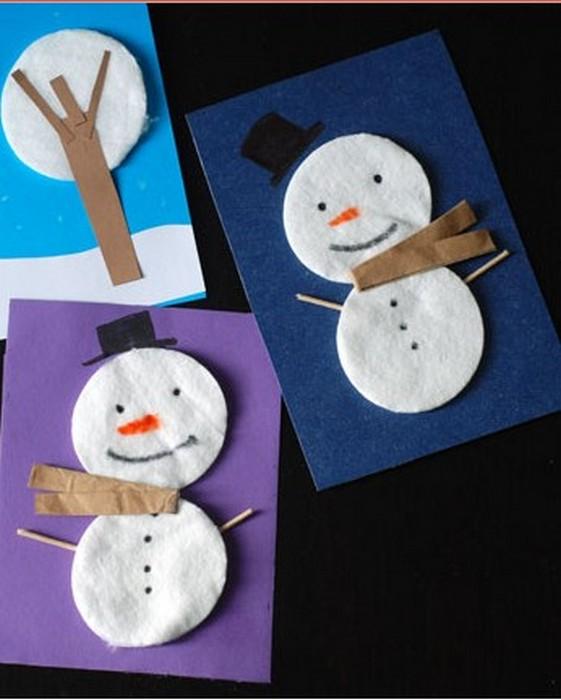 5 новогодних украшений из ватных дисков, которые легко сделать с детьми