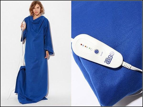 Гибрид кофты и одеяла с подогревом имеет четыре температурных режима