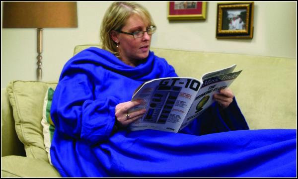 Уютное одеяло с подогревом и рукавами