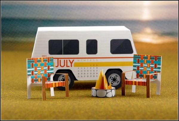 3D календари своими руками от Curiosity Group
