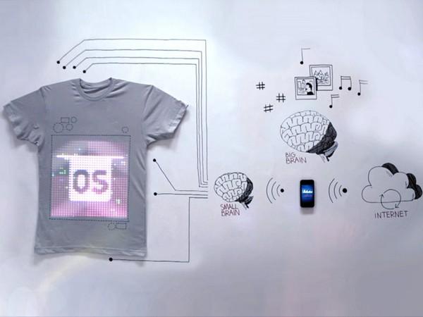 Мультимедийная футболка недалёкого будущего TshirtOS