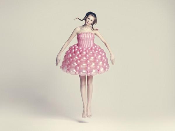 Воздушные платья из воздушных шариков от Daisy Balloon