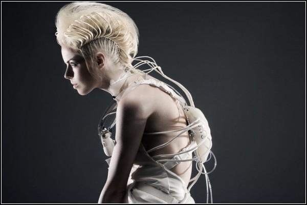 Биомеханическое платье для коктейля DareDroid
