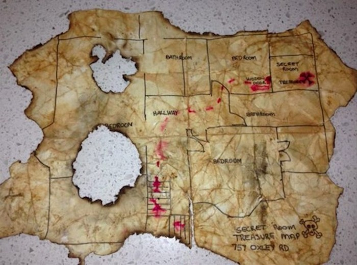 Настоящая карта сокровищ!