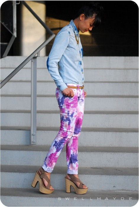 Делаем яркий апгрейд старым джинсам