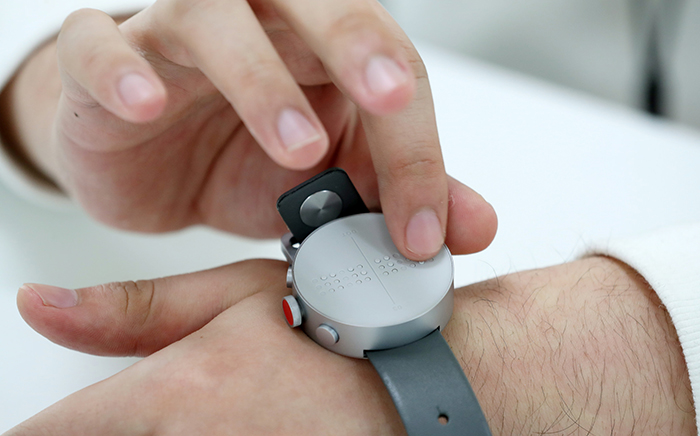 Dot - the first smart watch in Braille