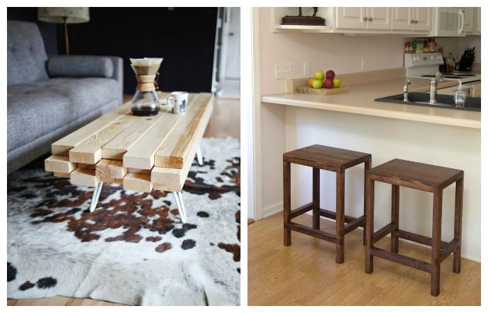 19 идей простой мебели из досок и пиломатериалов