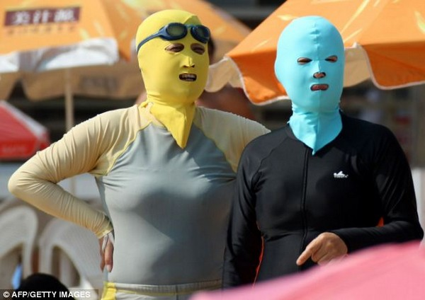Лучшее средство для защиты лица от УФ по версии китайцев – маска Face-Kini