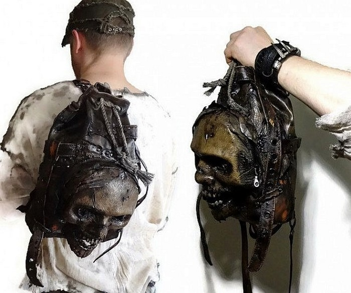 Зловещие рюкзаки FamilySkiners из натуральной кожи