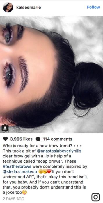 Брови перьями - свежий и очень странный бьюти-тренд из Instagram
