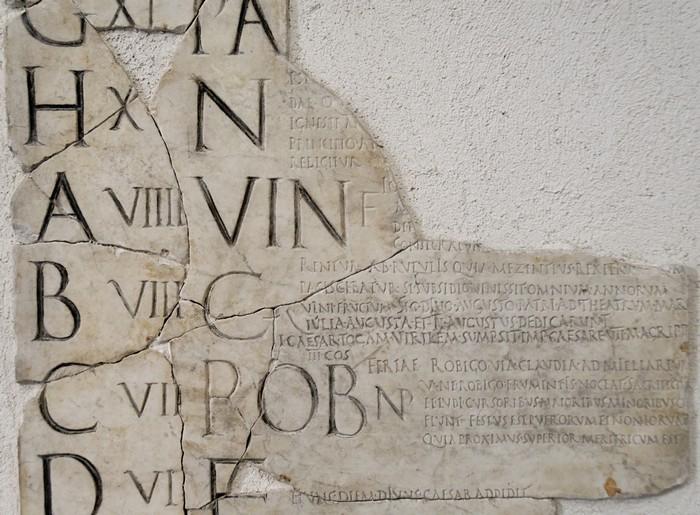 Фрагмент пре-юлианского календаря.