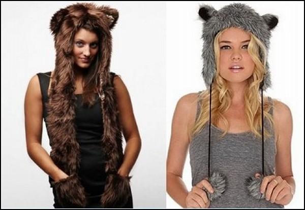 Оригинальные молодёжные шапки для хищниц