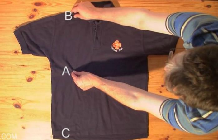 Как сложить футболку
