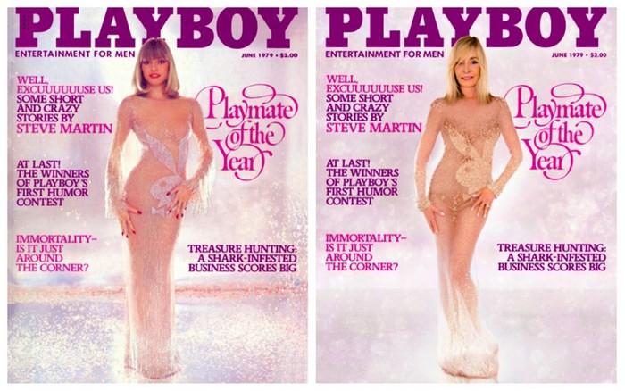 Моника Сент Пьер: в том же прозрачном платье.