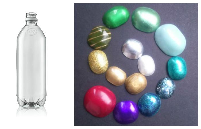 Как сделать «драгоценные» камни или стразы из пластиковой бутылки