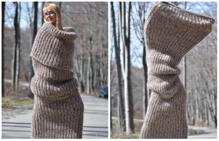 Огромный шарф, который наделал смеху в интернете.