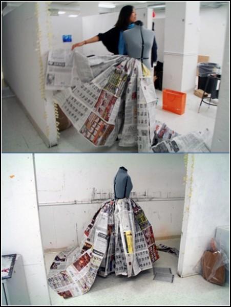 Дизайнерское платье в процессе создания