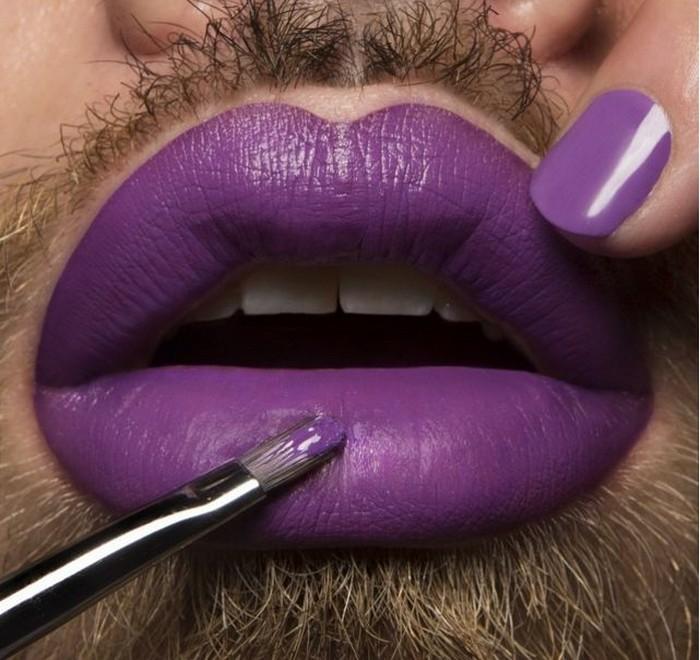 Бородачи с помадой на губах: промо-фото новой коллекции помад косметики Obsessive Compulsive Cosmetics
