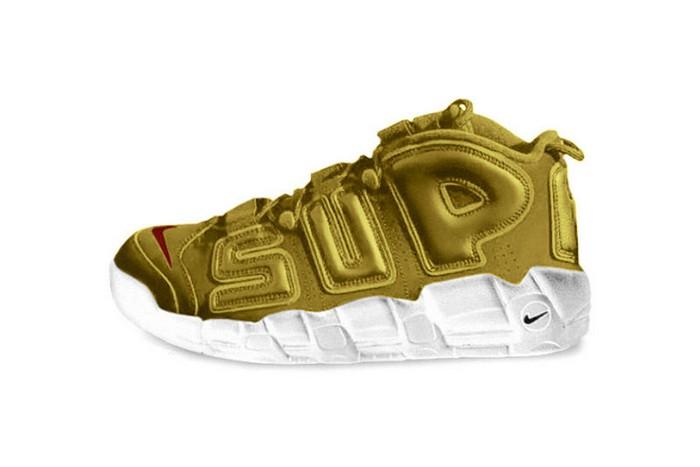 И это правда: «золотые» Nike, созданные совместно с брендом Supreme, обойдутся в кругленькую сумму