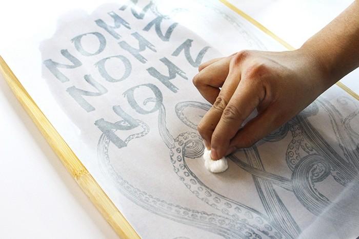 Как просто нанести рисунок на ткань или дерево