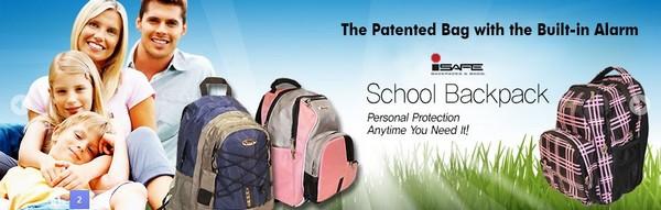 Рюкзак-сигнализация iSafe для американских школьников и их обеспокоенных родителей
