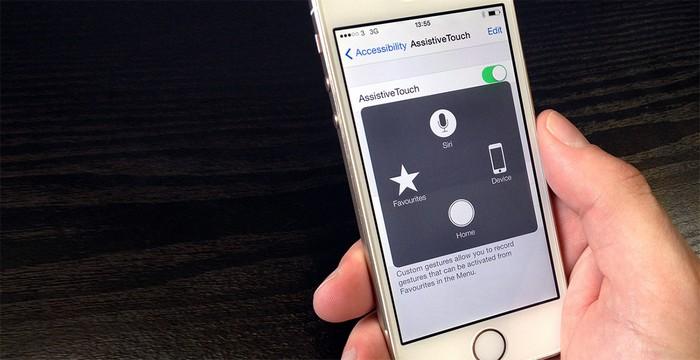Виртуальная кнопка «Home» может быть прямо на экране.