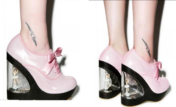 10 самых сумасшедших пар дизайнерской обуви от Irregular Choice:Glissade – ботильоны балерины