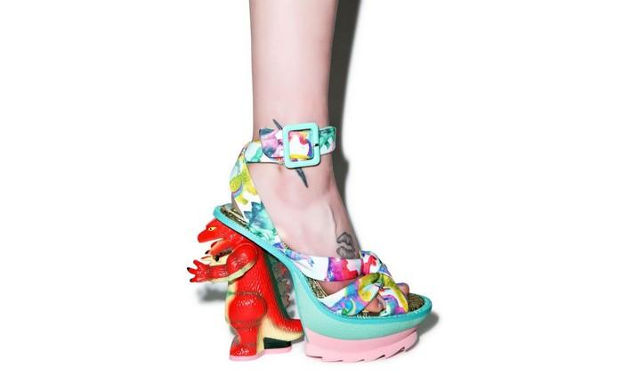 10 самых сумасшедших пар дизайнерской обуви от Irregular Choice:  модные динозавры Godzilla