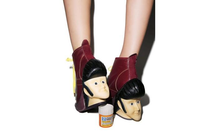 10 самых сумасшедших пар дизайнерской обуви от Irregular Choice:  Uh Huh Heel. Элвис жив!
