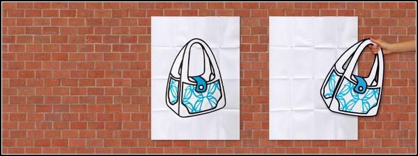 Нарисованная сумка.