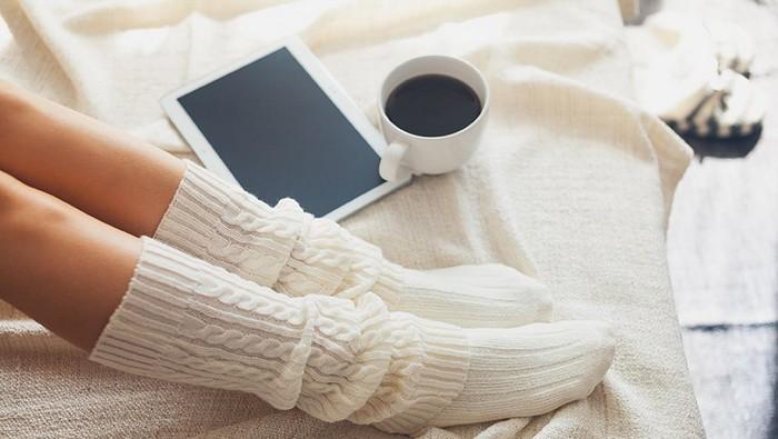 Белые носки: такие непрактичные, но красивые.