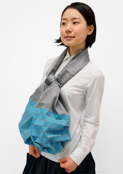 Японский шарф-головоломка Kaku-Kaku