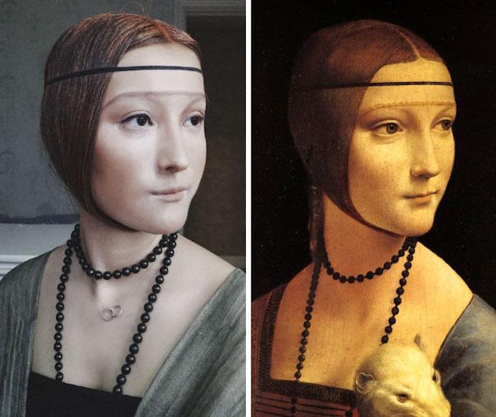 «Дама с горностаем» с другого полотна да Винчи.