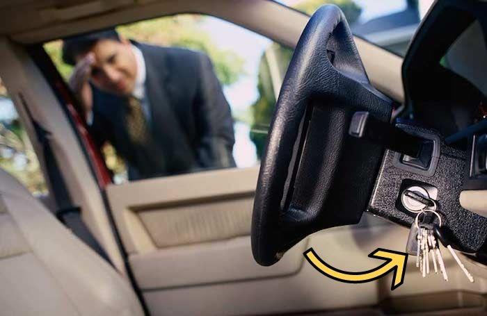 Твоё лицо, когда запер ключи в машине.