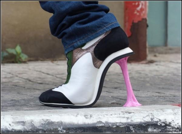 Необычные туфли Chewing Gum - прорыв дизайнера