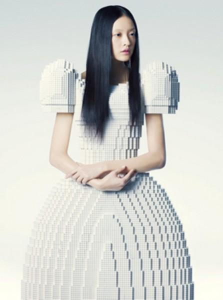 Эксклюзивное платье из кубиков Lego от Ри Хосокаи (Rie Hosokai)